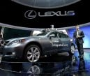 A Lexus LS Integrated Safety self-driving car is displayed at the Lexus booth during the 2013 International CES at the Las Vegas Convention Center on Jan. 8, 2013, in Las Vegas, Nevada.   JUSTIN SULLIVAN/GETTY IMAGES/AFP